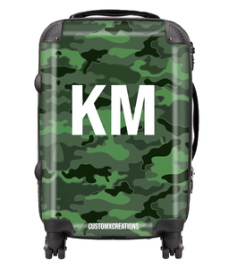 Personalised Green Camo Suitcase