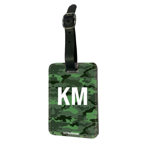 Personalised Green Camo Luggage Tag