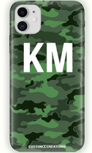 Load image into Gallery viewer, Personalised Urban Green Camo iPhone 11 Case-customxcreations