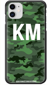 Personalised Urban Green Camo iPhone 11 Case-customxcreations