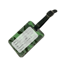 Load image into Gallery viewer, Personalised Green Camo Luggage Tag