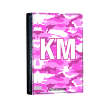 Load image into Gallery viewer, Personalised Pink Camo Passport Cover