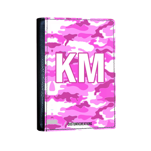 Personalised Pink Camo Passport Cover