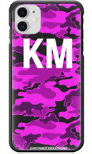 Load image into Gallery viewer, Personalised Violet Camo iPhone 11 Case-customxcreations