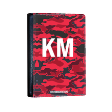 Load image into Gallery viewer, Personalised Red Camo Passport Cover