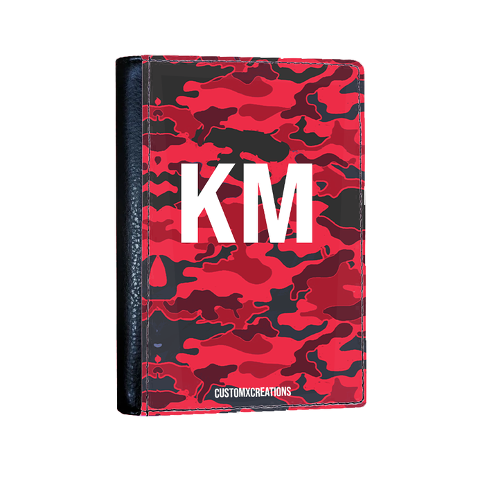 Personalised Red Camo Passport Cover