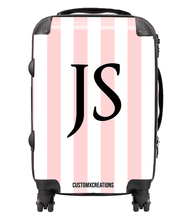Load image into Gallery viewer, Personalised Classic Simple Stripes Suitcase-customxcreations