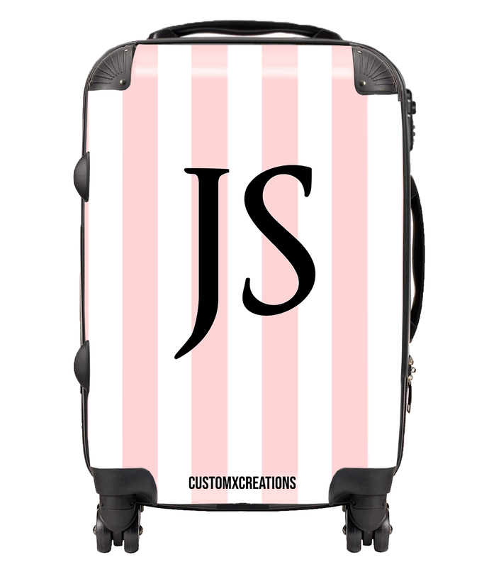 Personalised Classic Simple Stripes Suitcase-customxcreations