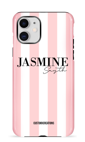 Personalised Classic Simple Stripes iPhone Case
