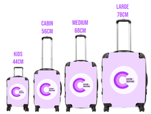 Load image into Gallery viewer, Personalised White Glamorous Glitter Suitcase