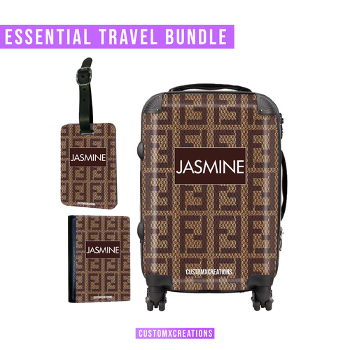 Essential Travel Bundle | Personalised F* Love Design-customxcreations