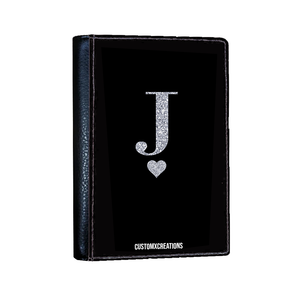 Personalised Glamorous Glitter Black Passport Cover-customxcreations