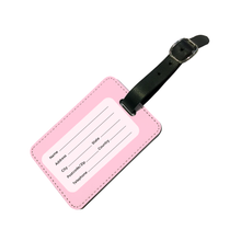 Load image into Gallery viewer, Personalised Glamorous Glitter Pink Luggage Tag
