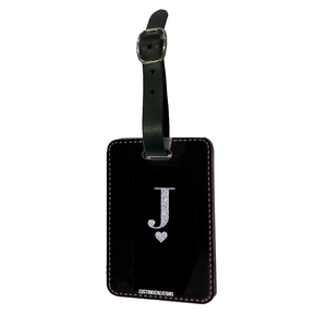 Personalised Glamorous Glitter Black Luggage Tag-customxcreations