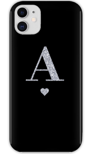 Personalised Glamorous Glitter - Black iPhone 11 Case-customxcreations
