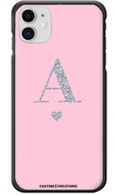 Load image into Gallery viewer, Personalised Glamorous Glitter - Pink iPhone 11 Case - customxcreations