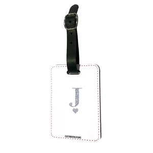 Personalised Glamorous Glitter White Luggage Tag-customxcreations
