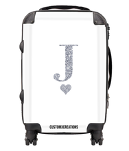 Load image into Gallery viewer, Personalised White Glamorous Glitter Suitcase-customxcreations