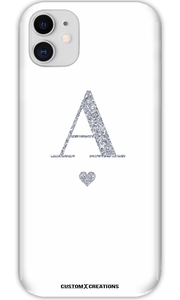 Personalised Glamorous Glitter - White iPhone 11 Case - customxcreations