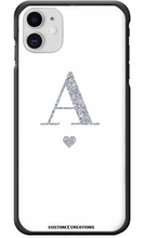 Load image into Gallery viewer, Personalised Glamorous Glitter - White iPhone 11 Case - customxcreations