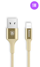 Load image into Gallery viewer, Gold Premium Lightning Fast iPhone Charging Cable 1M - customxcreations