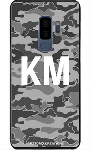 Gunmetal Grey Camo Samsung S9 Plus Case - customxcreations