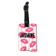 Load image into Gallery viewer, Personalised Hot Lips Luggage Tag-customxcreations