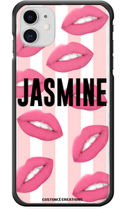 Personalised Hot Lips iPhone 11 Case-customxcreations
