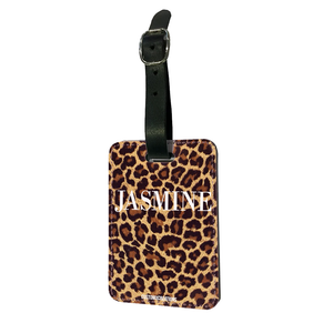 Personalised Leopard Print Luggage Tag
