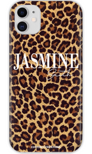 Load image into Gallery viewer, Personalised Leopard Print iPhone 11 Case - customxcreations