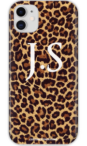 Personalised Leopard Print iPhone 11 Case - customxcreations