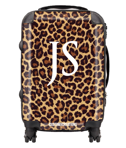 Personalised Leopard Print Suitcase-customxcreations