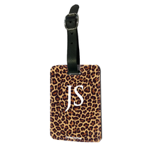 Load image into Gallery viewer, Personalised Leopard Print Luggage Tag