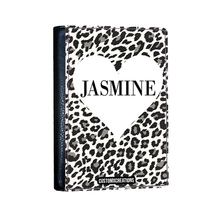 Load image into Gallery viewer, Personalised White Leopard Print Passport Cover-customxcreations