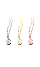 Load image into Gallery viewer, Silver Simple Letter Necklace & Bracelet Set-customxcreations