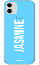 Load image into Gallery viewer, Personalised Pastel Blue iPhone 11 Case - customxcreations