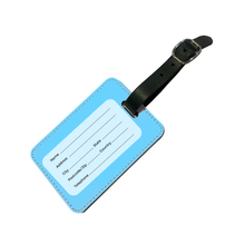 Load image into Gallery viewer, Personalised Pastel Blue Luggage Tag