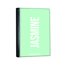 Load image into Gallery viewer, Personalised Green Pastel Passport Cover