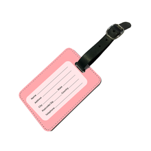 Load image into Gallery viewer, Personalised Pastel Peach Luggage Tag-customxcreations