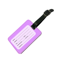 Load image into Gallery viewer, Personalised Pastel Purple Luggage Tag