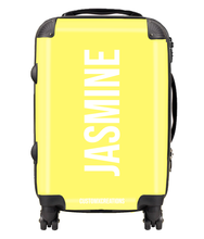 Load image into Gallery viewer, Personalised Yellow Pastel Suitcase