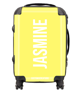 Personalised Yellow Pastel Suitcase
