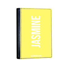 Load image into Gallery viewer, Personalised Yellow Pastel Passport Cover-customxcreations