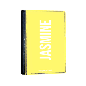 Personalised Yellow Pastel Passport Cover-customxcreations