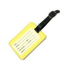Load image into Gallery viewer, Personalised Pastel Yellow Luggage Tag