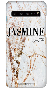 Premium Gold Cracked Marble Samsung Galaxy S10e Case-customxcreations