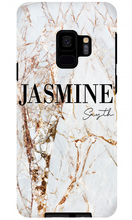 Load image into Gallery viewer, Premium Gold Cracked Marble Samsung S8 Case - customxcreations