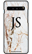 Load image into Gallery viewer, Premium Gold Cracked Marble Samsung Galaxy S10 Plus Case - customxcreations
