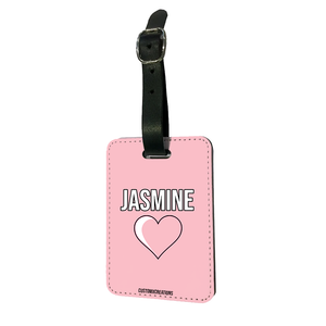 Personalised Pink Love Luggage Tag-customxcreations
