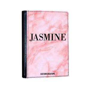 Personalised Pink Marble Passport Cover-customxcreations